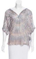Raquel Allegra Printed Silk Blouse