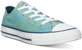 Converse Little Girls' Chuck Taylor Ox Neon Floral Casual Sneakers from Finish Line