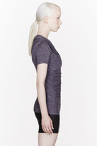 Alexander Wang Purple Slub Jersey Draped t-shirt