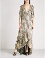 BA&SH Fenix lamé maxi dress