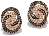 Effy Jewelry Effy Espresso 14K Rose Gold Cognac and White Diamond Earrings, 0.89 TCW