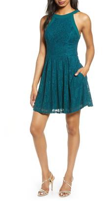 Speechless Lace Skater Dress