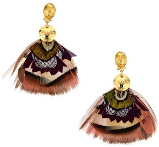 Gas Bijoux Bermude Feather Earrings