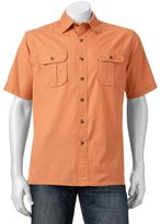 Croft & Barrow Men's Solid Crosshatch Button-Down Shirt