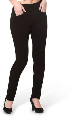 Lola Jeans Rebeccah High-Rise Pull-On Straight-Leg Jeans