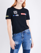 Mo&Co. Racing print cotton-jersey T-shirt