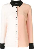 Twin-Set two tone collared shirt