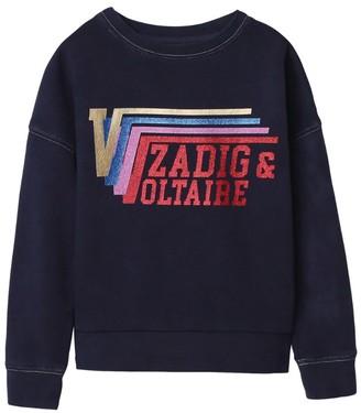 Zadig & Voltaire Embellished Logo Sweatshirt (6-16 Years)