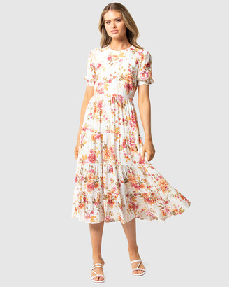 Forever New Betty Printed Midi Dress