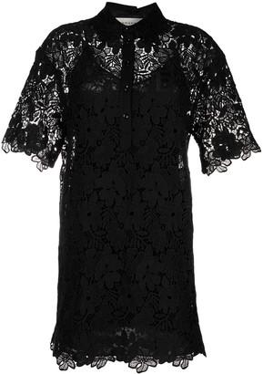 Ermanno Ermanno Floral-Lace Mini Dress