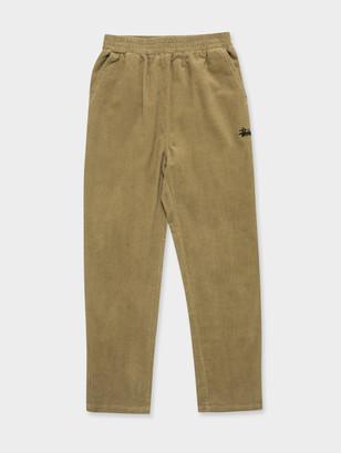 Stussy Stock Cord Pants in Mushroom