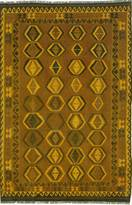 "nuLoom Hand-knotted Vintage overdyed Kilim 6'4""x9'10"" Gold"