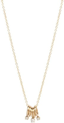 Chicco Zoe 14ct Yellow Gold And Diamond Five Rings Necklace