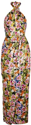 Borgo de Nor Alyona Floral-print Silk-blend Maxi Dress