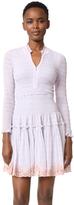Rebecca Taylor Long Sleeve Clip Mix Dress