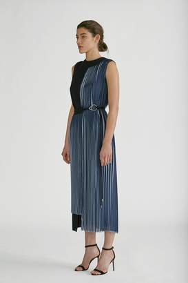 Yigal Azrouel Two Tone Pleated Dress