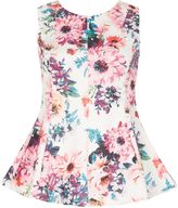 Izabel London Nature Floral Print Flare Fit Top