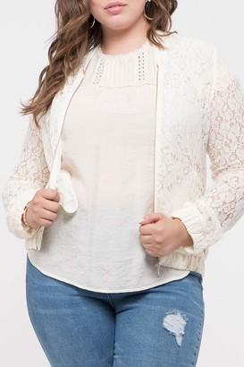 Blu Pepper Sheer Lace Jacket (Plus Size)