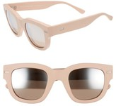 Acne Studios Women's 47Mm Sunglasses - Matt Pink/ Silver Mirror
