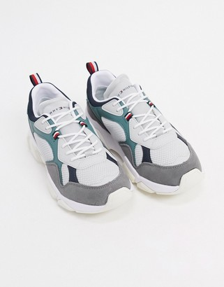 Tommy Hilfiger chunky runner trainers in grey