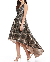 Calvin Klein Floral Embroidered Hi-Low Gown