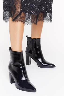 Nasty Gal Womens No Point to Prove Patent Faux Leather Boots - black - 3
