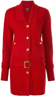 Chanel Pre Owned Cashmere Belted Slim Jacket
