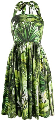 Dolce & Gabbana Jungle Print Halter Dress