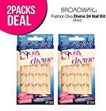 Kiss 2-Pack! Broadway Fashion Diva Divine 24 Nail Kit (BFA02)