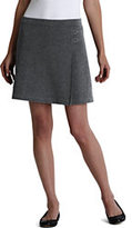 Lands' End Women's Knit Skort-Charcoal Heather