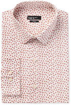Bar III Men's Slim-Fit Rust Foliage-Print Dress Shirt, Only at Macy's
