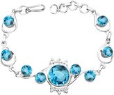 20.60ctw, & 925 Silver Plated Bracelet Made By Sterling Silver Jewelry