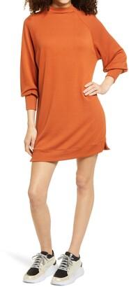Socialite Long Sleeve Textured Knit Shift Dress