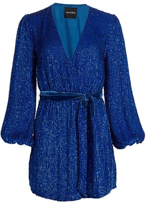 retrofete Julie Sequined Georgette Dress