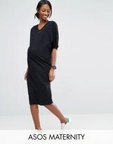Asos Kimono Sleeve T-Shirt Midi Dress