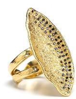 Oversized Onyx Pavé Ring