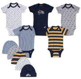 Gerber 10-Piece Sports Bodysuit and Cap Set in Navy