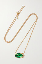 Thumbnail for your product : Brooke Gregson Orbit 18-karat Gold, Emerald And Diamond Necklace - one size