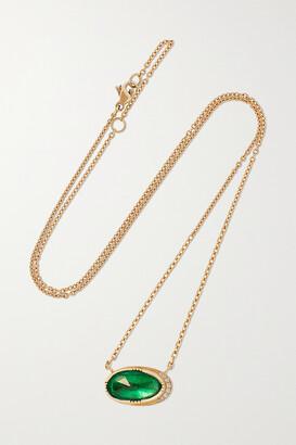 Brooke Gregson Orbit 18-karat Gold, Emerald And Diamond Necklace - one size