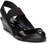 Donald J Pliner Elsie Leather Wedge Sandal