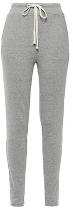 James Perse Melange French Cotton-terry Track Pants