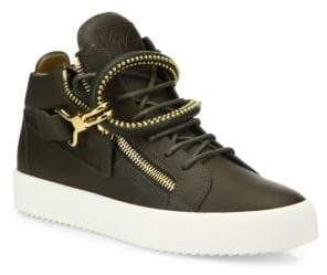 Giuseppe Zanotti Dual Studded Strap Leather Sneakers