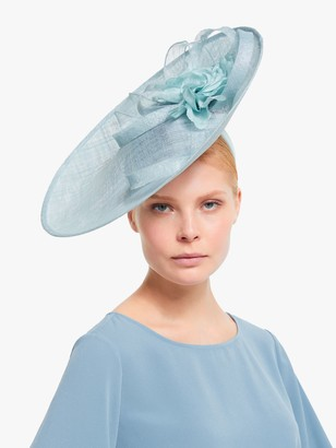 John Lewis & Partners Rosie Flower Detail Side Disc Occasion Hat, Bluebell