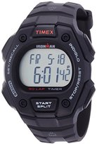 Timex Unisex Quartz Watch with LCD Dial Digital Display and Black Resin Strap T5K822