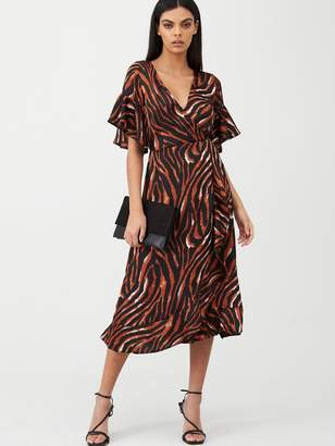 AX Paris Tiger Printed Midi Dress - Multi