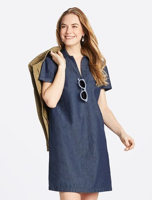 Draper James Collared Chambray Shift Dress