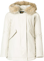 Woolrich classic padded coat - women - Cotton/Feather Down/Polyamide/Polyester - XS