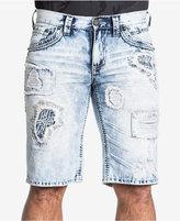 Affliction Men's Ace Fleur Fallen Slim-Fit Destroyed Denim Shorts