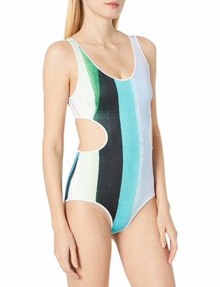 Clover Canyon Women's Striped Eclipse One Piece Swimsuit