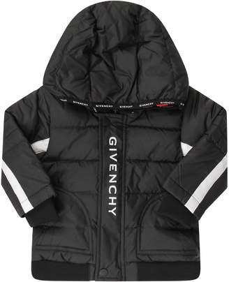 Givenchy Black Babyboy Jacket With White Logo
